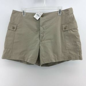 J.CREW Womens Chino Cargo Shorts Beige Khaki
